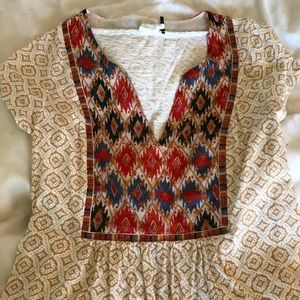 Akemi and Kin patterned tee- Anthropologie